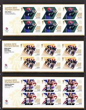 GREAT BRITAIN 2012 OLYMPICS COMPLETE SET OF 29 SHEETLETS SG 3342a-3370a.