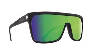 Spy FLYNN Matte Black w/ Happy Green Spectra Sunglasses - Free Express Post