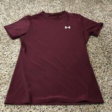 Under armour Yxl fitted shirt short sleeve maroon red