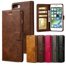 For iPhone X 5 6s 7 8 Plus Flip Magnetic Leather Wallet Case Card Pocket Cover J