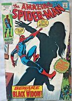 🕷️=Amazing Spider-Man= #86 VG+ (1970) Black Widow Silver Age Comic