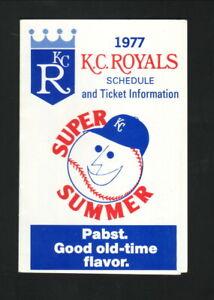 Kansas City Royals--1977 Pocket Schedule--Pabst