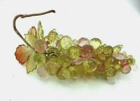 Acrylic Lucite Grape Cluster Pink Amber Clear Vintage Mid Century