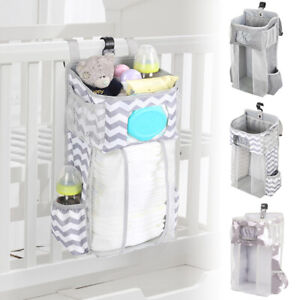 Baby Nursery Organizer And Crib Bed Diaper Pocket Hanging Bag for Infant Storage