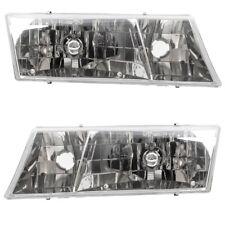Pair Headlights Set fits 98-02 Mercury Grand Marquis YW3Z13008CB YW3Z13008BB