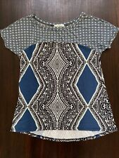 Weston Wear Anthropologie Blue Time Lapse Tee Size S Soft High Quality Jersey