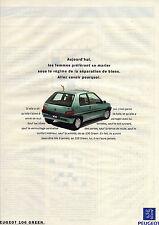 PUBLICITE ADVERTISING  1994   PEUGEOT  la 106 GREEN