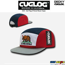 407f1322010 DECKY CUGLOG Cal Flag 5 Panel Racer Caps California Bear Cotton Snapback Hat  C33