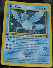 Spanish Holo Foil Articuno 2/62 1st Edition Fossil Set Pokemon Trading Cards HP