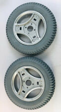 """Pair of NEW 14""""x3"""" Solid Foam-Filled Wheels Tires for Permobil Power Wheelchair"""