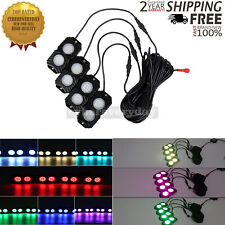 OL-19RGB04 RGB LED Rock Lights 4 Pods Mobile Phone Bluetooth Control