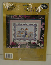 SOMETHING SPECIAL COUNTED CROSS STITCH KIT Bunny Family Portrait #50777