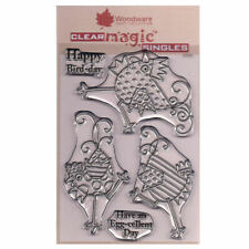 New listing Woodware A6 Clear Cling Stamps - Jgs550 Dancing Chickens