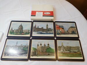 Pimpernel London Scenes Six Place Mats 9320 Made in England St Paul Cathedral