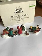 """Department 56 Heritage Village """" Snow Children"""" #5938-2 Mint"""