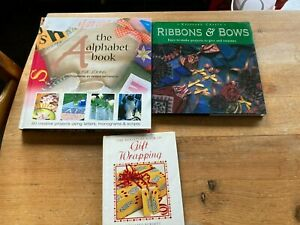 THREE CRAFT BOOKS - WRAPPING, RIBBONS & BOWS, ALPHABET