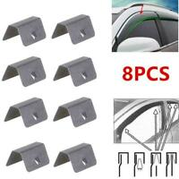8x Wind / Rain Deflector Car Channel Metal Retaining Clips For Heko G3 SNED Clip