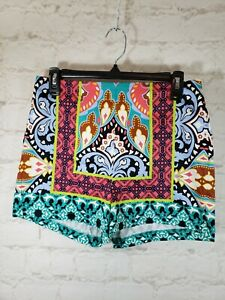 """Flying Tomato Printed Shorts Size Large Back Zip Inseam 2.5"""" FAST SHIP"""