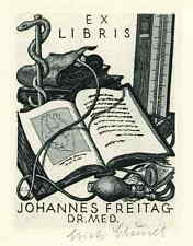 Erich GRUNER KARDIOLOGE Johannes FREITAG 1964 - Handsignierte OriginalRadierung