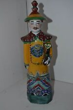 Vtg Chinese Asian Figure Pottery Lucky God Man  Statue Ming ? Dynasty