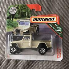 RARE 2015 MATCHBOX 1951 JEEP WILLYS 4x4 PICK-UP TRUCK
