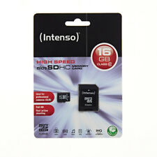 NEW! Intenso 3413470 16GB Class 10 Micro SD Card with Adapter