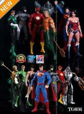 7PCS JUSTICE LEAGUE Action Figure Wonder Batman Superman Flash Donna giocattolo TG036