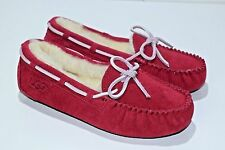 Ugg Australia Girls Kids Size 13 Dakota  Red Moccasin Slippers Shoes