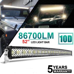52zoll Curved LED Light Bar scheinwerfer Lichtbalken Auto SUV Offroad IP68 Lampe