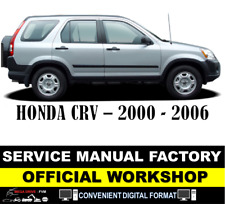 FACTORY WORKSHOP SERVICE MANUAL HONDA CRV 2000 - 2006