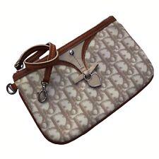 Dior Monogram Beige Wristlet / Clutch Bag Trotter Romantique
