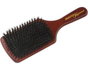 Hercules Germany Paddle Hair Brush Pure Bristle Luxury Wood Handle