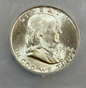 1954-D Franklin 50c Half Dollar ICG MS64 FBL  (201)  ~~ Stunning Luster ~~