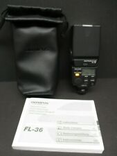Olympus FL-36 flash with case and book mint condition
