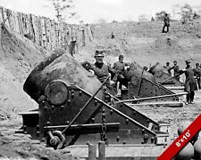 US ARMY HEAVY ARTILLERY 13 INCH MORTAR CANNONS PHOTO REAL CANVAS WAR ART PRINT