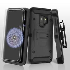 FOR SAMSUNG GALAXY S9 G960 FULL BLACK KINETIC ARMOR RUGGED CASE COVER+