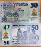 NIGERIA 50 NAIRA 2016 P 40 NEW SIGN POLYMER UNC LOT 10 PCS
