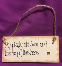 Laura Ashley MY GRANDAD has SILVER HAIR GOLD HEART Handcrafted Plaque Pap.Pops