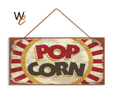 POP CORN Sign, Retro CINEMA Sign, Move Room Decor, Rustic Style 5 x 10 Wood Sign