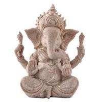 Sandstein Elefant Ganesha Buddha Deko-Figur Skulptur Feng Shui Dekoration