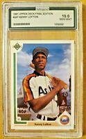 Gem Mint AGS 10 1991 Upper Deck Final Edition Kenny Lofton #24F RC Rookie Card