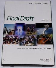 Final Draft 7 Screenwriting Software PC/Mac Original Box/Manuals