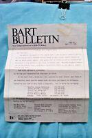 BART Bulletin #135 - Senate Bill 290 - 4/17/85