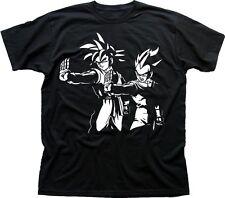 DRAGON BALL Z PULP FICTION GOKU Cosplay Anime Manga black cotton t-shirt FN9605