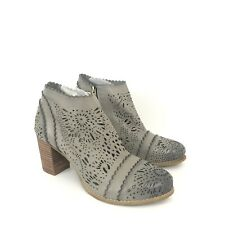 L'Artiste by Spring Step Womens Size 42 US 10.5-11 Gray Laser Cut Bao Ankle Boot