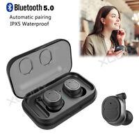 Mini Wireless Bluetooth Earphone Ture Bass Headset HIFI In Ear Stereo Headphones