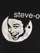 Steve-O Tee Shirt Signed Autographed Steve O Black Small