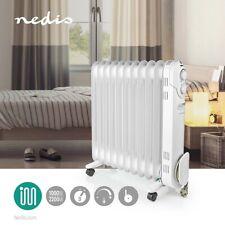 mobiler Öl Radiator 11 Rippen Elektroheizung 2200 Watt Thermostat 3 Heizstufen