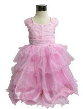 Rose Mariage Fleur Fille Demoiselle D'honneur Pageant Robe De Soirée Âge 3 - 4 ans UK NEUF