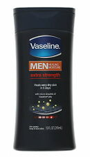 Vaseline Extra Strength Body and Face Lotion for Men, 10 Ounce